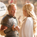 game of thrones, got, daenerys targaryen, jorah mormont, friendzone,