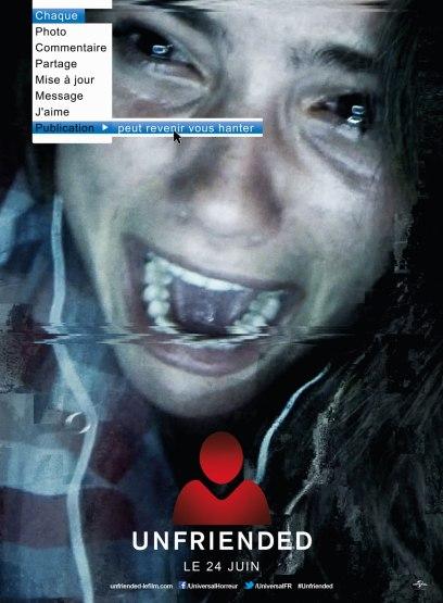 Unfriended, l'affiche du film d'horreur entièrement filmé sur Skype.