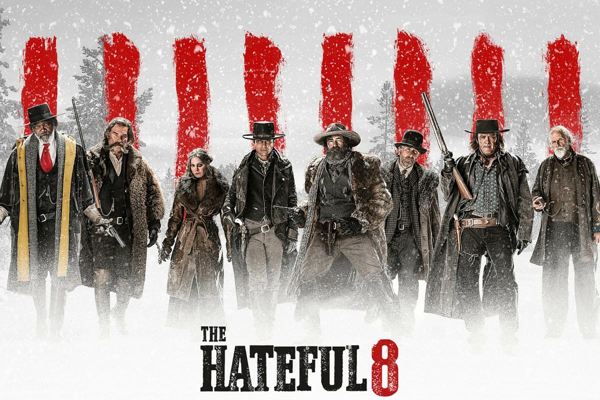 L'affiche de The Hateful Eight, le huitième film de Quentin Tarantino.