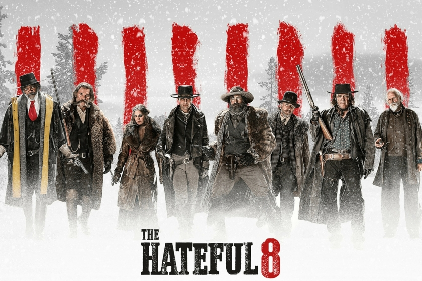 L'affiche de The Hateful Eight, le huitième film de Quentin Tarantino.