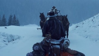 Samuel Lee Jackson et sa pile de cadavres dans The Hateful Eight, de Quentin Tarantino.