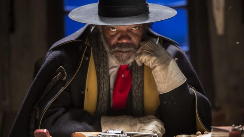 Samuel Lee Jackson dans The Hateful Eight, de Quentin Tarantino.