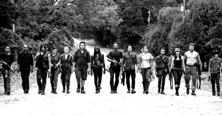 Le casting (encore au complet) de la série américaine The Walking Dead, diffusée sur AMC.