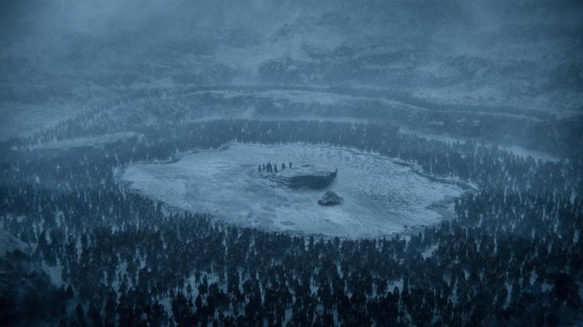 Jon Snow et ses acolytes piégés au milieu du Lac par l'armée des morts
